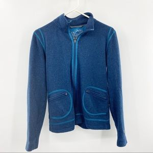 Kuhl Full Zip Blue Kashmira Sweater Medium